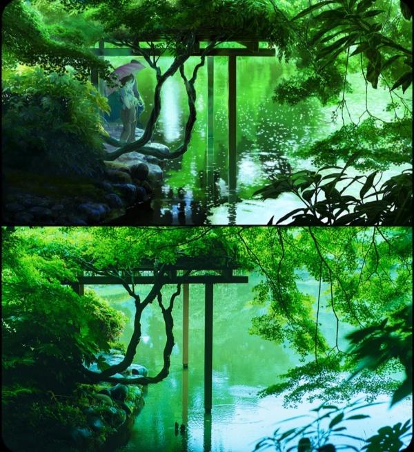 日本动画里面的实景